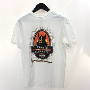 HARLEY DAVIDSON Twin Cities L White T-shirt NEW